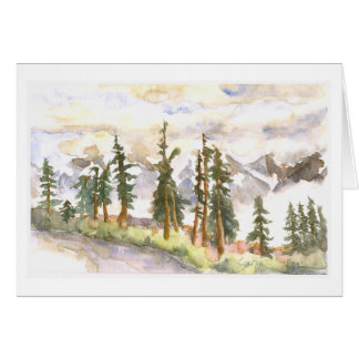 Clouds in the valley, Cascade Mountains Greeting Card