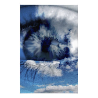 clouds in view custom stationery