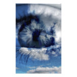 clouds in view stationery paper