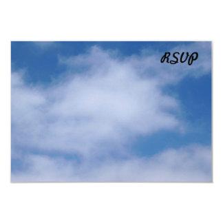 Clouds 9 Cm X 13 Cm Invitation Card