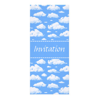 Clouds Personalized Invitations
