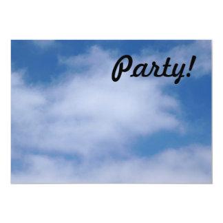 Clouds 13 Cm X 18 Cm Invitation Card