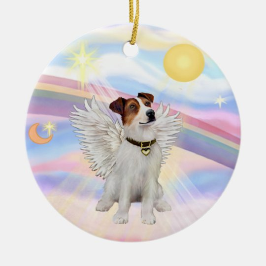 Clouds - Jack Russell Terrier Round Ceramic Decoration