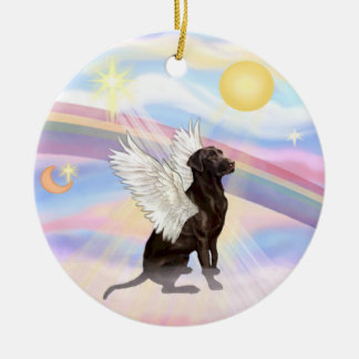 Clouds - Labrador Angel (Chocolate) Christmas Ornament