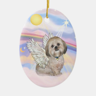 Clouds - Lhasa Apso (L) Christmas Ornament