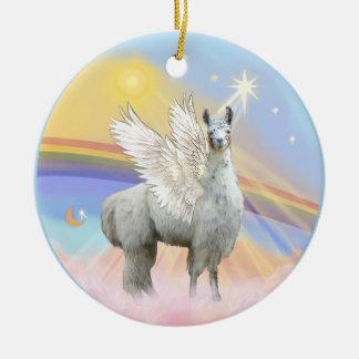 Clouds - Llama Angel (12) Christmas Ornament