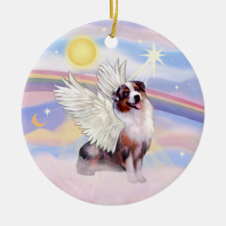 Clouds - Merle Australian Shepherd Angel (#1) Christmas Ornament