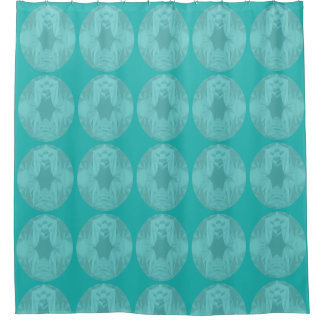 Clouds of Aqua Marine Soft Pastel Abstract Shower Curtain