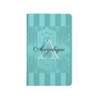 Clouds of Aqua Marine Soft Pastel with Your Name Journal