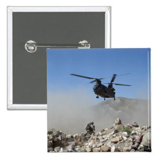 Clouds of dust kicked up by the rotor wash 15 cm square badge