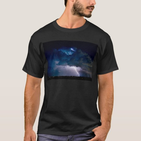 Clouds of Light. Lightning Striking Boulder Count T-Shirt