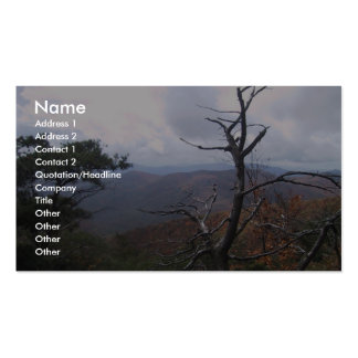 Clouds On The Mountain, Business Card Template