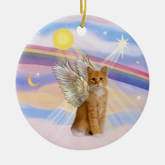 Clouds - Orange Tabby Tiger Cat Angel Christmas