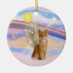Clouds - Orange Tabby Tiger Cat Angel Ornaments