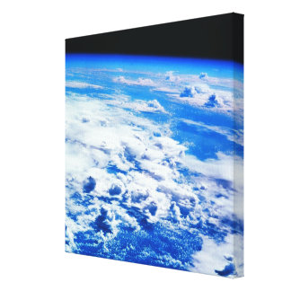 Clouds over Earth Stretched Canvas Print