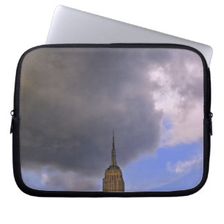 Clouds over Empire State Building Laptop Sleeve