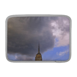Clouds over Empire State Building MacBook Sleeve