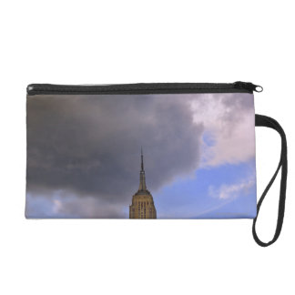 Clouds over Empire State Building Wristlet Clutch