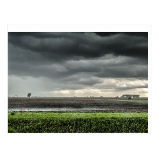 Clouds over Fields of the Prairie Postcard