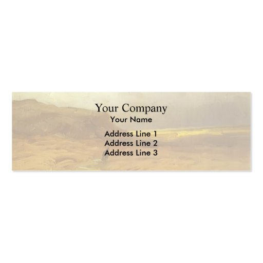 Clouds over Hills. Study by Fyodor Vasilyev Business Card Template