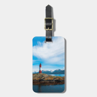 Clouds over lighthouse near Ushuaia, Argentina Luggage Tag