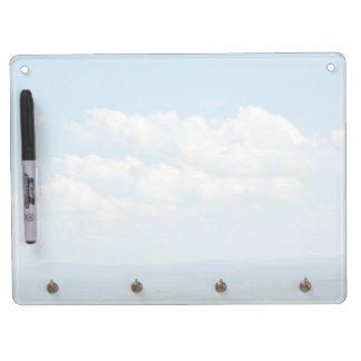 Clouds Over Mountains Dry Erase Board With Key Ring Holder