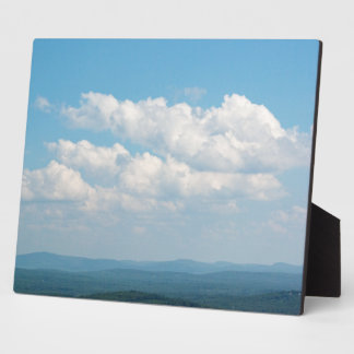 Clouds Over Mountains Plaque