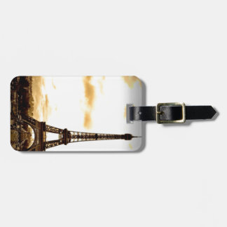 Clouds Over Paris Luggage Tag