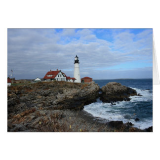 Clouds Over Portland Head Lighthouse Card