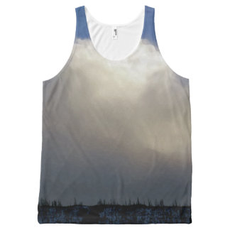 Clouds Over the Ridge All-Over Print Tank Top