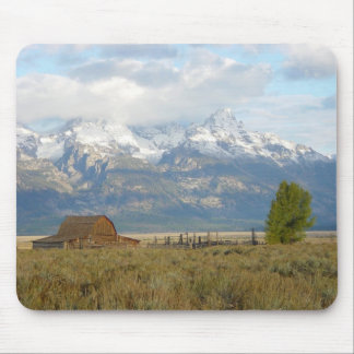 Clouds Over the Tetons Mouse Mat