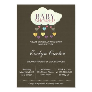 Clouds & Paper Hearts | Baby Shower