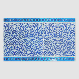 Clouds pattern rectangular sticker