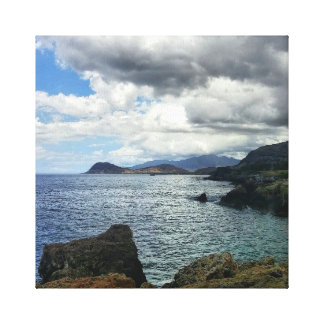 Clouds Photo to Canvas Print with Ocean Landscape