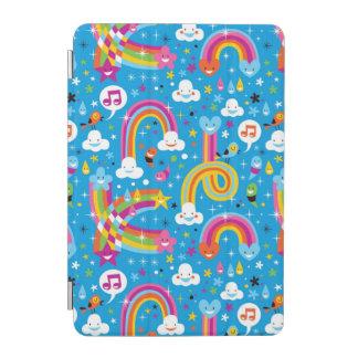 clouds rainbows rain drops hearts pattern iPad mini cover
