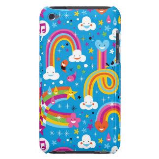 clouds rainbows rain drops hearts pattern iPod Case-Mate cases
