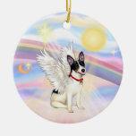 Clouds - Rat Terrier Angel Round Ceramic Decoration