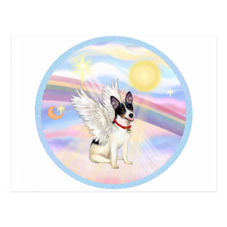 Clouds - Rat Terrier Angel Postcard