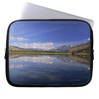 Clouds reflected in lake laptop sleeve