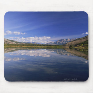Clouds reflected in lake mouse mat