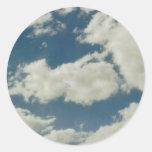 Clouds Round Stickers