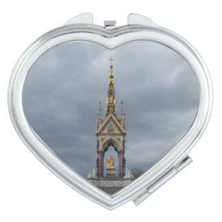Clouds & Satue Heart Compact Mirror