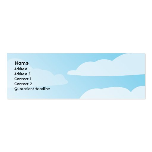 Clouds - Skinny Business Card Template