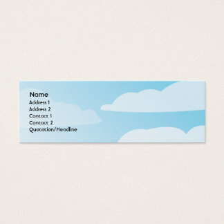 Clouds - Skinny Mini Business Card