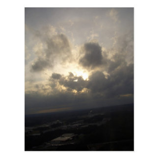 Clouds Sky Sunlight Silver Lining Cloudy Landscape Postcard