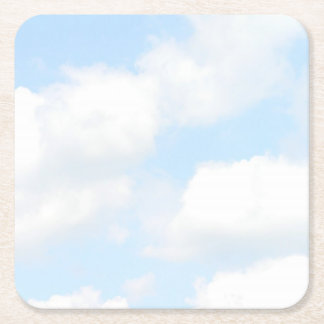 Clouds Square Paper Coaster