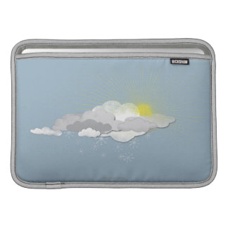 Clouds, Sun and Snowflakes MacBook Sleeve