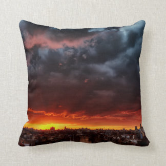 Clouds, Sunset And Red Cushion
