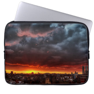 Clouds, Sunset And Red Laptop Sleeve