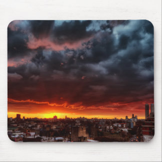 Clouds, Sunset And Red Mouse Mat